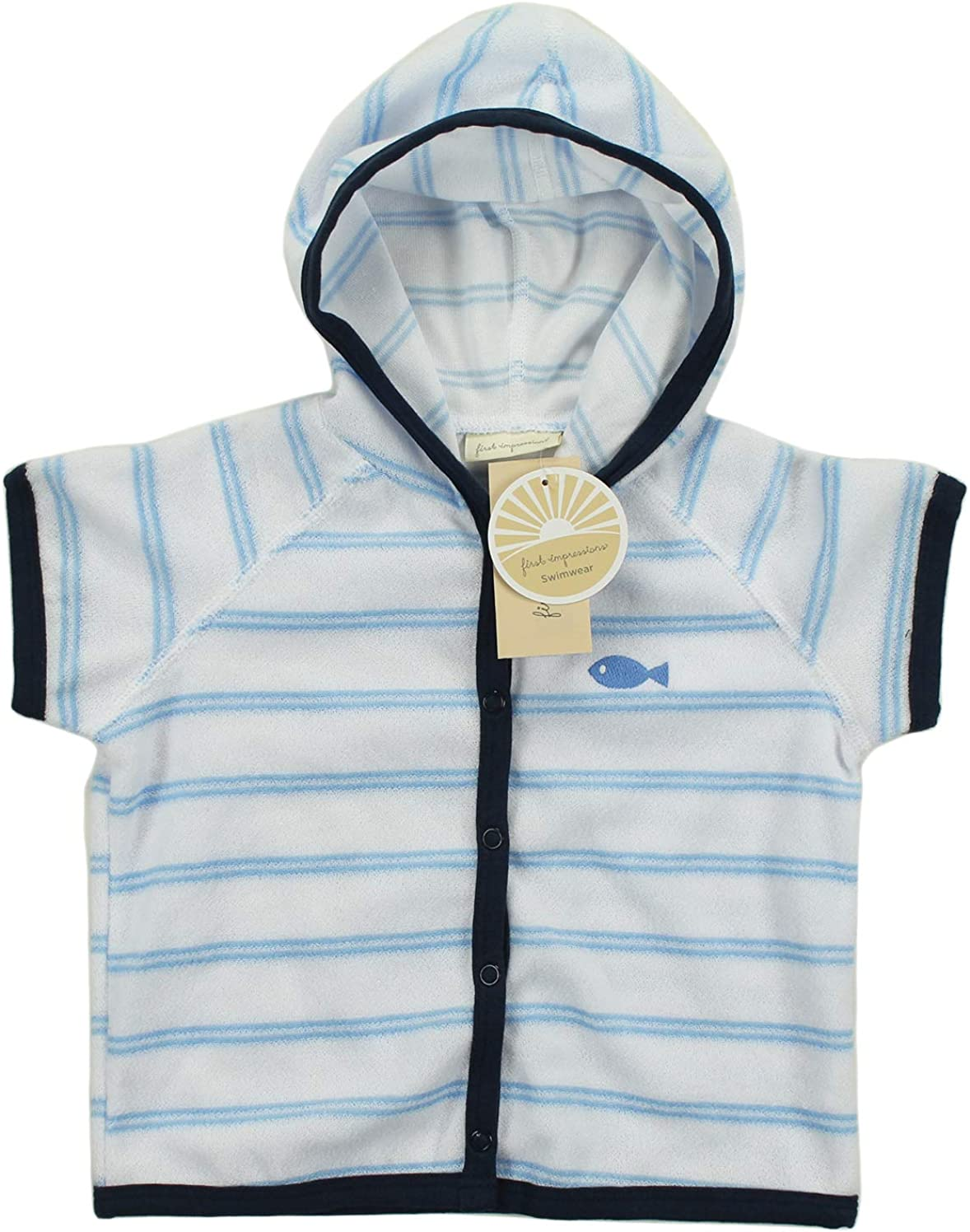 First Impressions Infant Boys Striped Terry Hooded Cover UP Swimwear 18M