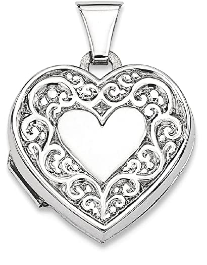 Amazon ice carats 925 sterling silver heart photo pendant charm ice carats 925 sterling silver heart photo pendant charm locket chain necklace that holds pictures fine mozeypictures Gallery