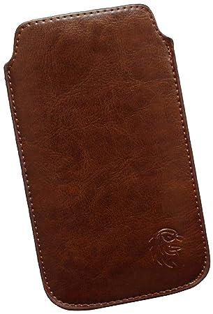 Dealbude24 Schutz Tasche für Sony Xperia, Pull tab Hülle Handy herausziehbar, dünnes Etui genäht mit Rausziehband, innen weic