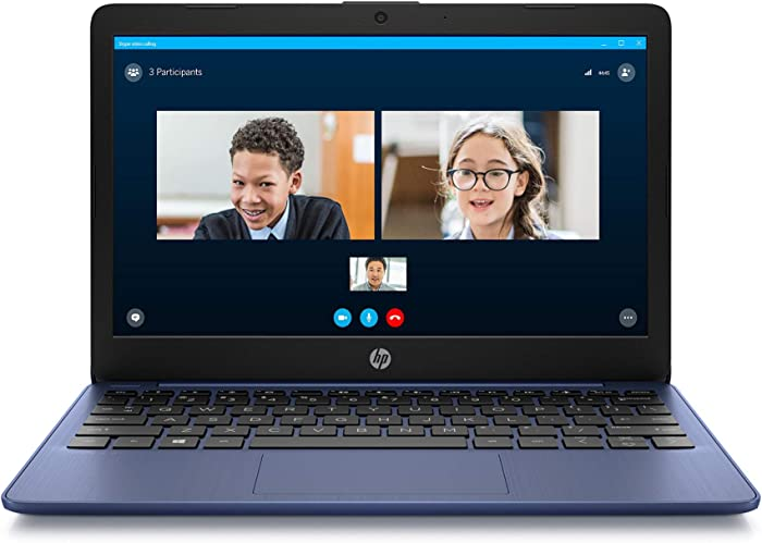 HP Stream 11-inch HD Laptop, Intel Celeron N4000, 4 GB RAM, 32 GB eMMC, Windows 10 Home in S Mode with Office 365 Personal for 1 Year (11-ak0010nr, Royal Blue) (Renewed)
