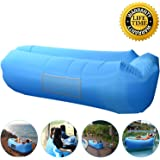 Outdoor Inflatable Lounger Couch, Air Sofa Blow Up Lounge Chair with Carrying Bag for Travelling, Camping, Hiking, Park, Pool and Beach Parties