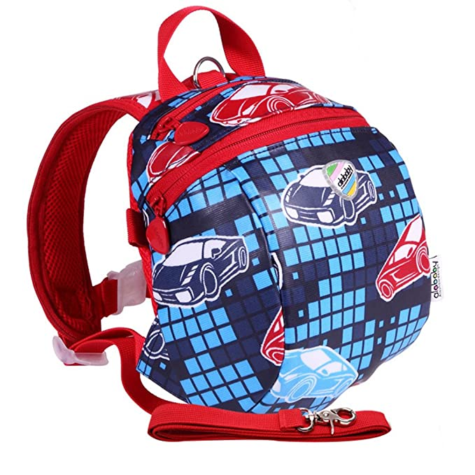 ce4fa8cd12 Moonwind Waterproof Kids Toddler Harness Backpack Children Baby Safety Bag  with Leash (Auto Racing)