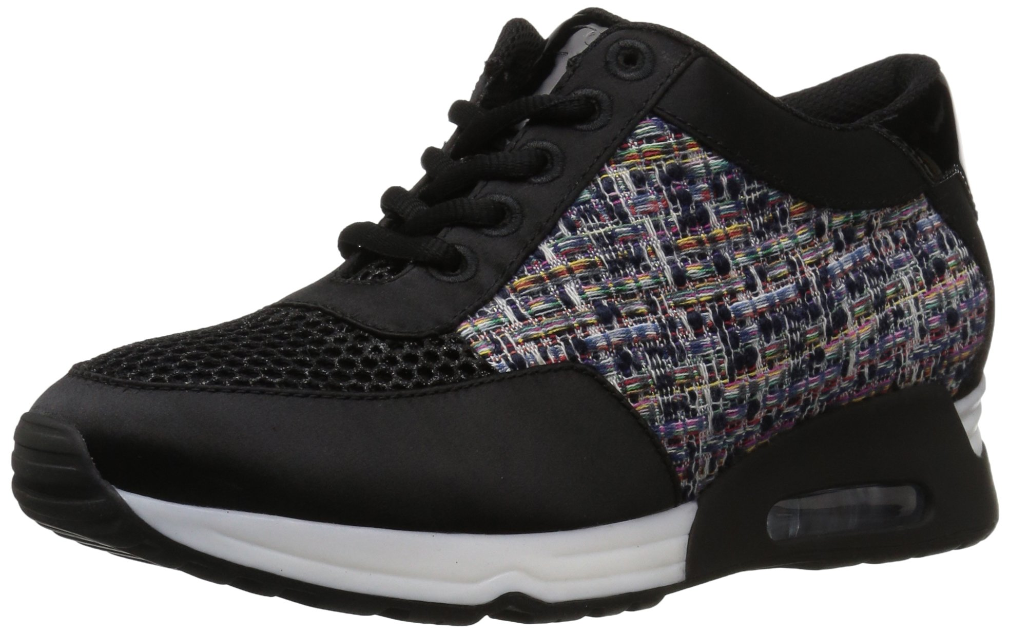The Fix Women's Lexi Color/Material-Block Jogger Sneaker, Tweed/Black, 8 B US