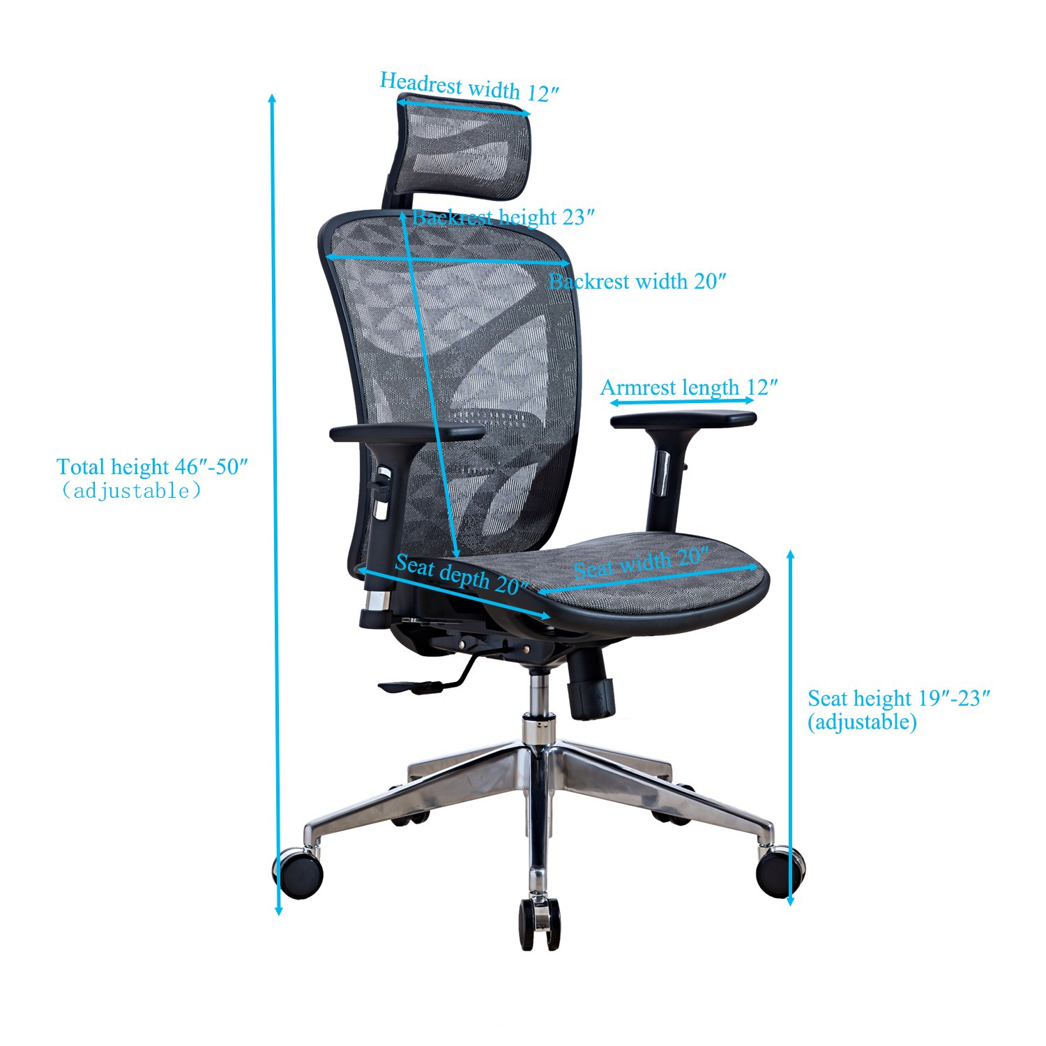Amazon LSCING Ergonomic Recliner Mesh fice Chair with