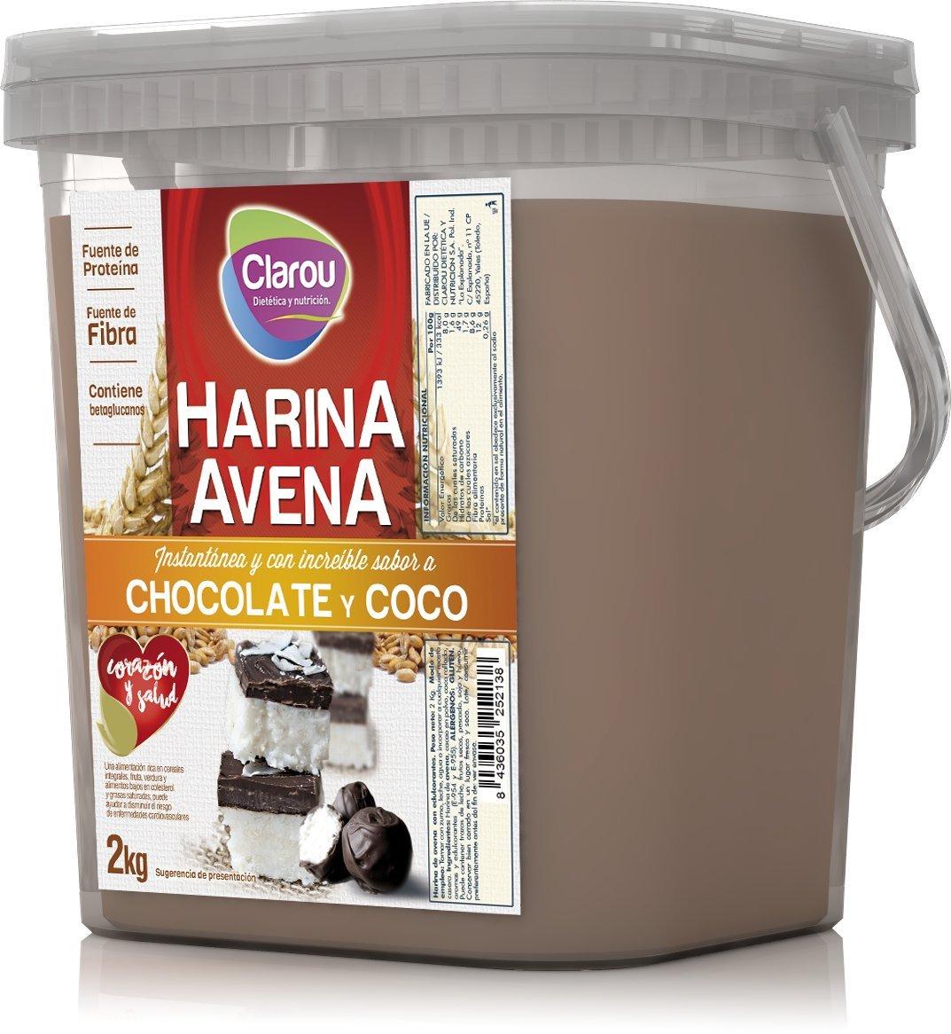Harina de Avena Chocolate & Coco (2000 gr): Amazon.es: Alimentación y bebidas