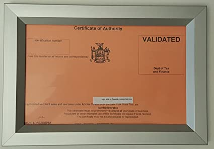 Amazon.com - CERTIFICATE OF AUTHORITY 8.5X5.5 ( Heavy Duty - Aluminum) -