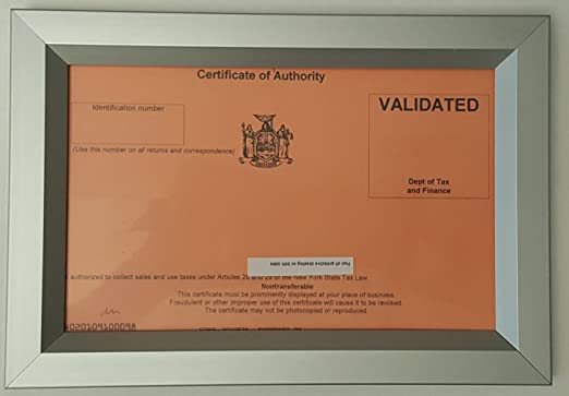 CERTIFICATE OF AUTHORITY 8 5X5 5 ( Heavy Duty - Aluminum)