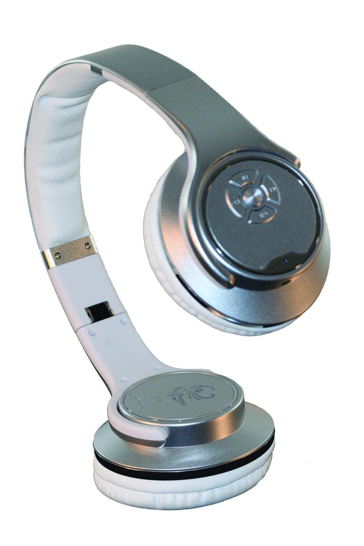 Bridgecraft BC-IP201-SL Twist-Out Wireless Bluetooth Stereo Speaker & Headphones, Silver