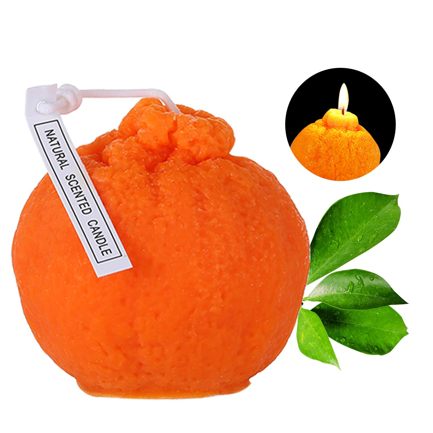 Orange Scented Candles for Home Scented 100% Natural Soy Candle for Birthday Gift Party Wedding Holiday Celebration Decoration