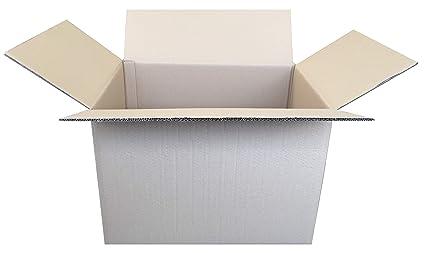 Pack de 10 Cajas de Cartón de Canal Doble y Color Marrón. Tamaño 53,5 x 38,5 x 37,5 cm. Mudanzas. Fabricadas en España. Normativa AFCO. Cajeando
