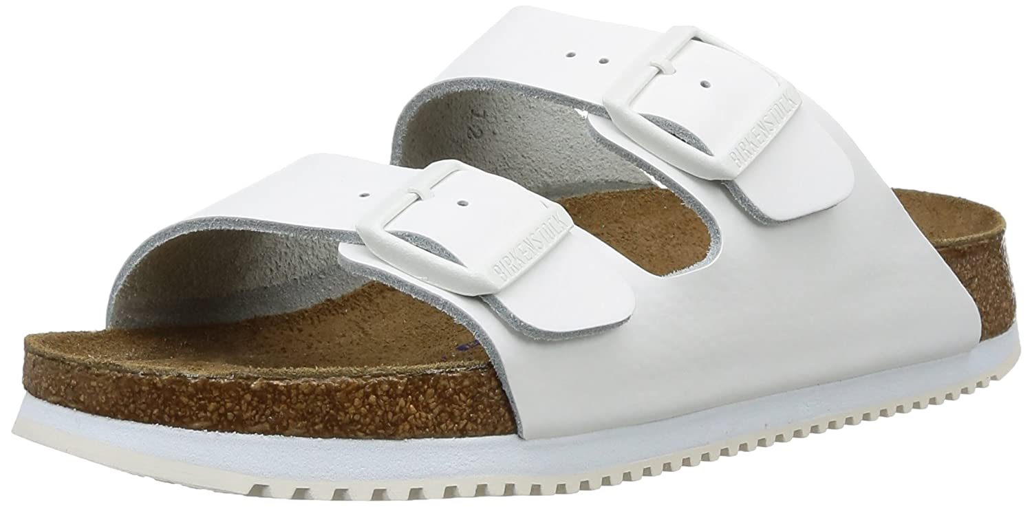 TALLA 36 EU. Birkenstock Arizona SL - Sandalias de Cuero Unisex Adulto, Color Blanco, Talla 36 Normal