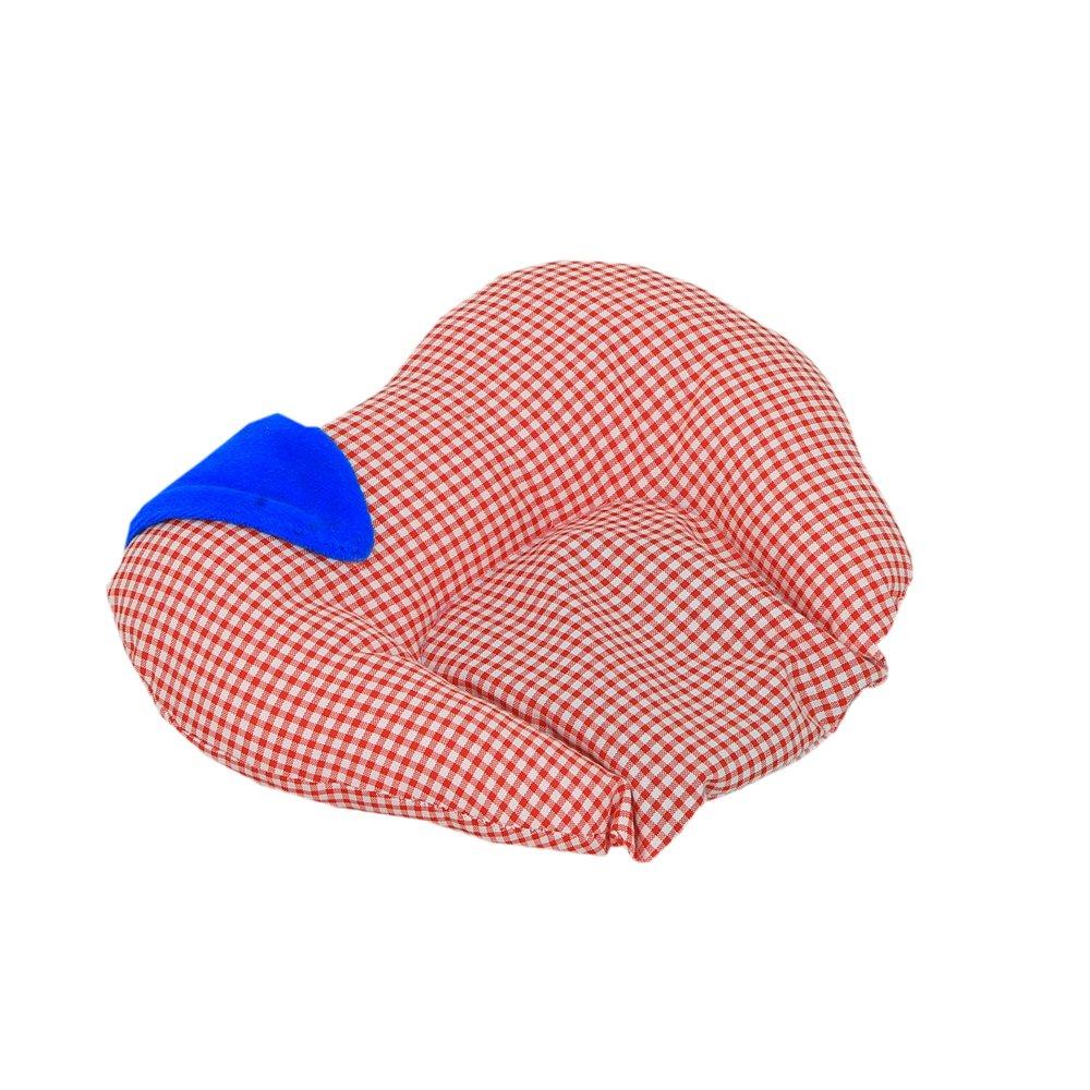 Kuber Industries Mustard Seeds (Rai) Pillow - Apple Shape (Cotton), Pink
