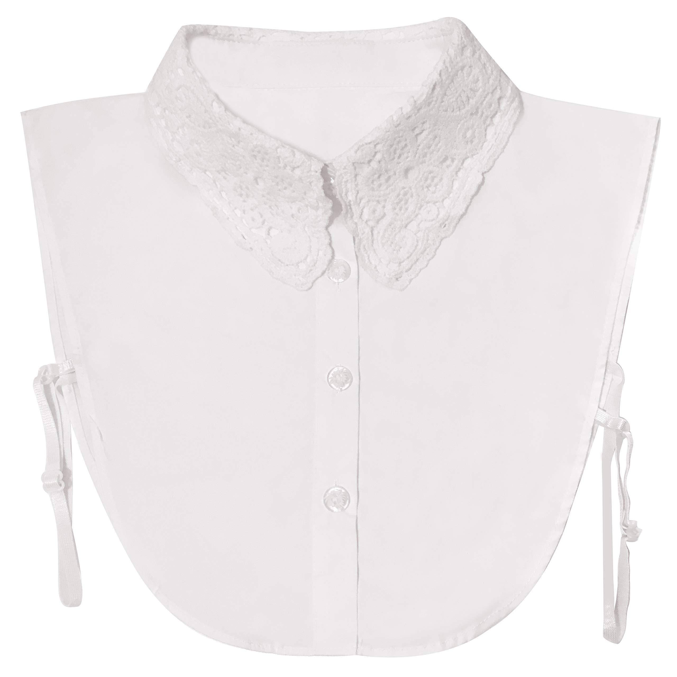 Ronessy Fake Collar for Women, Half Shirt Detachable Blouse Collar Tie (Style B)