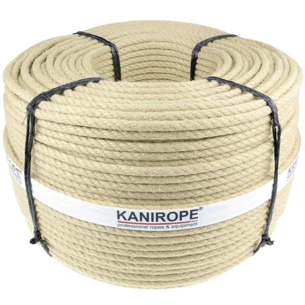 Kanirope® Polyhanfseil SPINTWIST ø10mm 20m 4-litzig gedreht