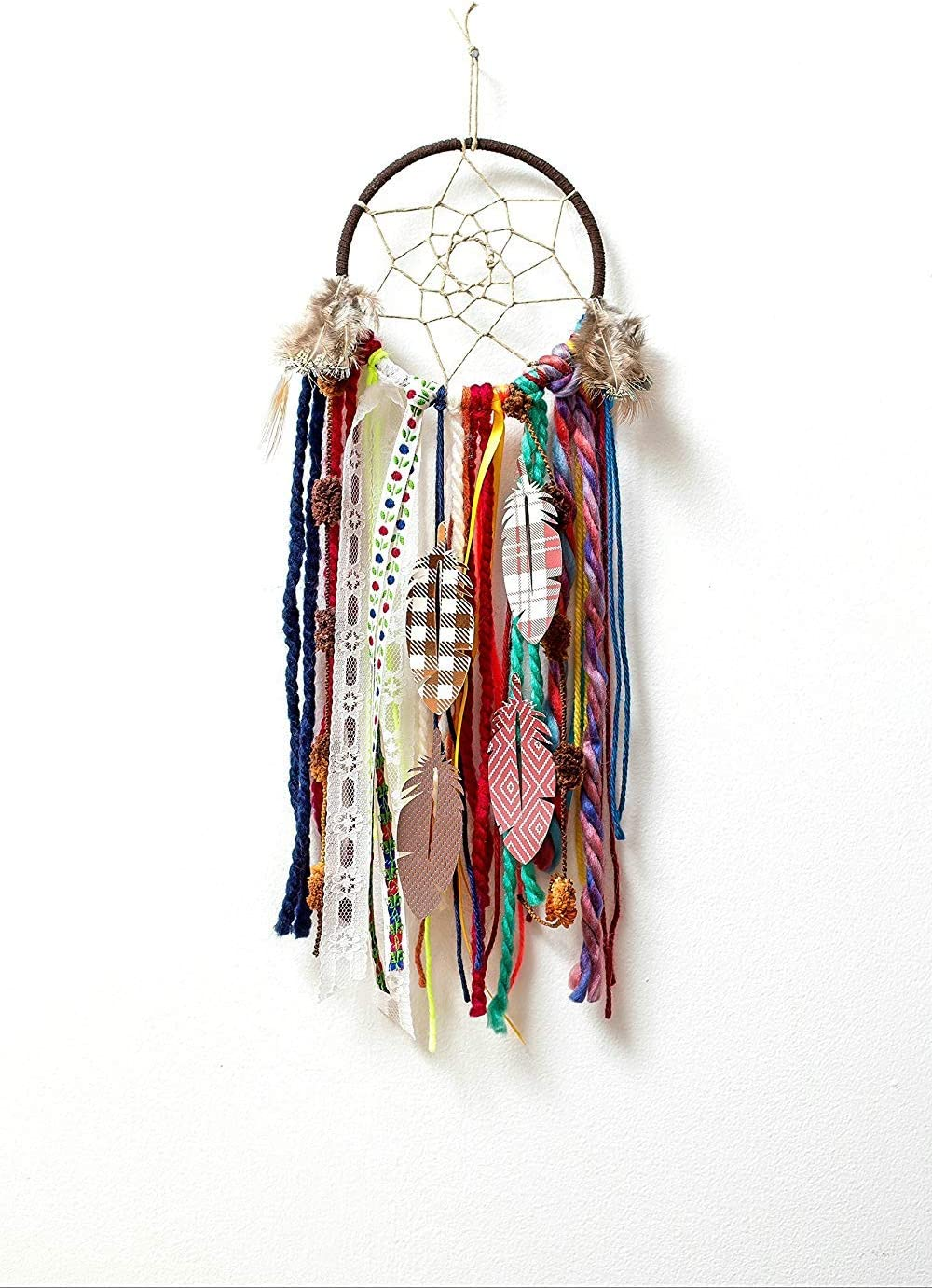 150pcs Feathers in 6 Styled and 10 Colors 3 mm Faux Suede Cord for Dream Catcher Crafts Birthday Party 15pcs Gold Metal Rings in 5 Size Dream Catcher Making Kit