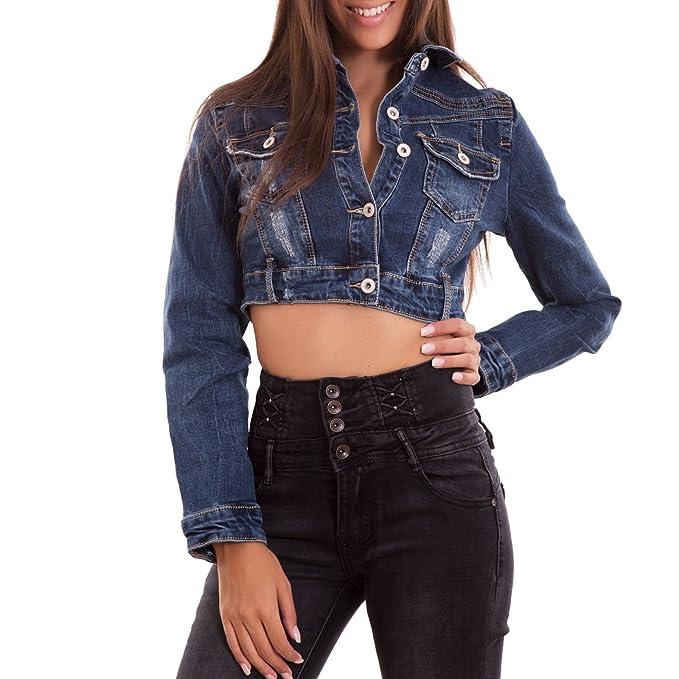 Giubbino jeans corto amazon