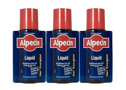 Líquido energizante para el pelo Alpecin, cafeína, 200 ml, paquete de 3 unidades