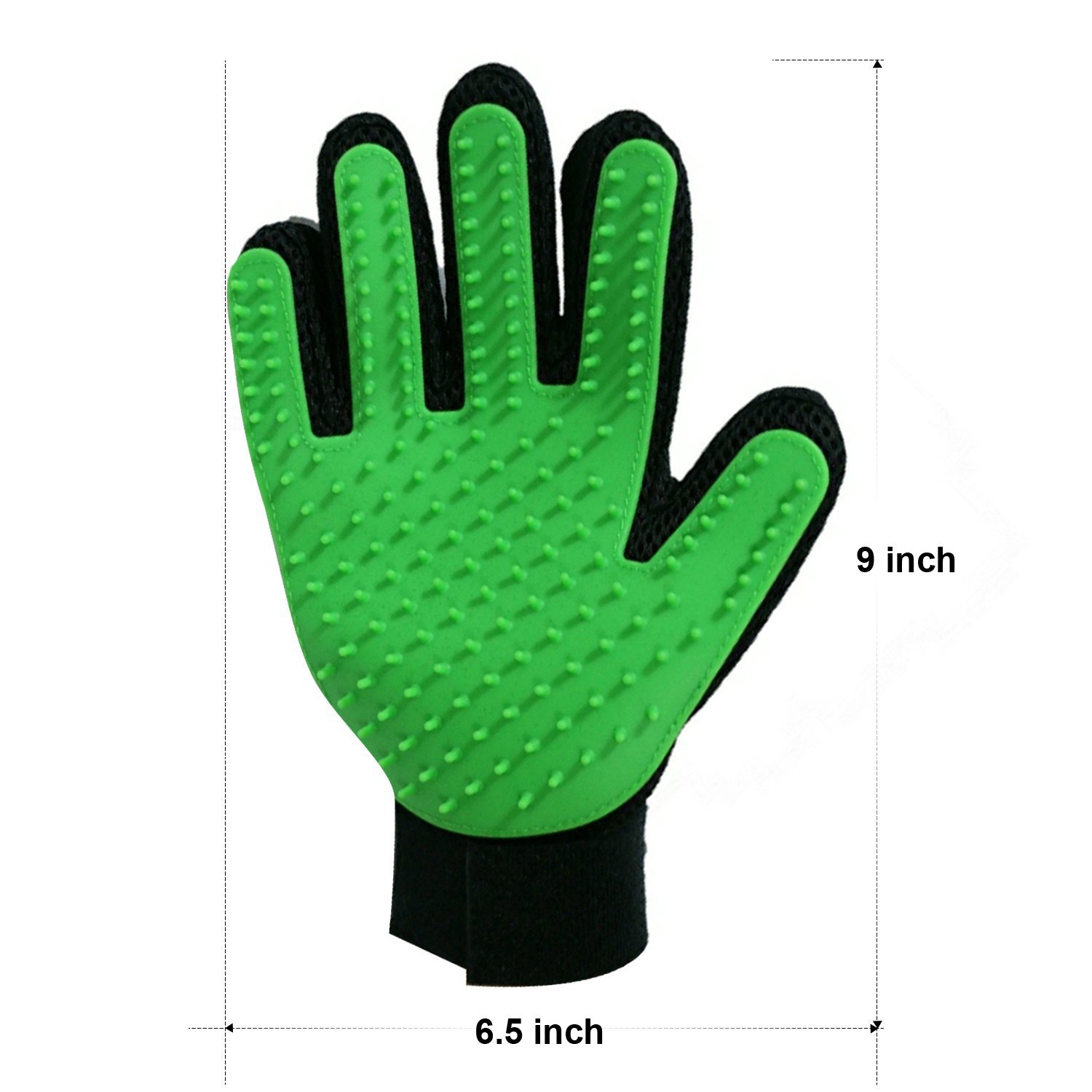Petbob Pet Grooming Glove,Pet Deshedding Glove,Soft Gentle Pet Bath Massage Mitt,Silicone Pet Dematting Hair Removal Brush Glove Comb, For Long and Short Haired Dogs Cats Bunnies (green) by petbob (Image #6)