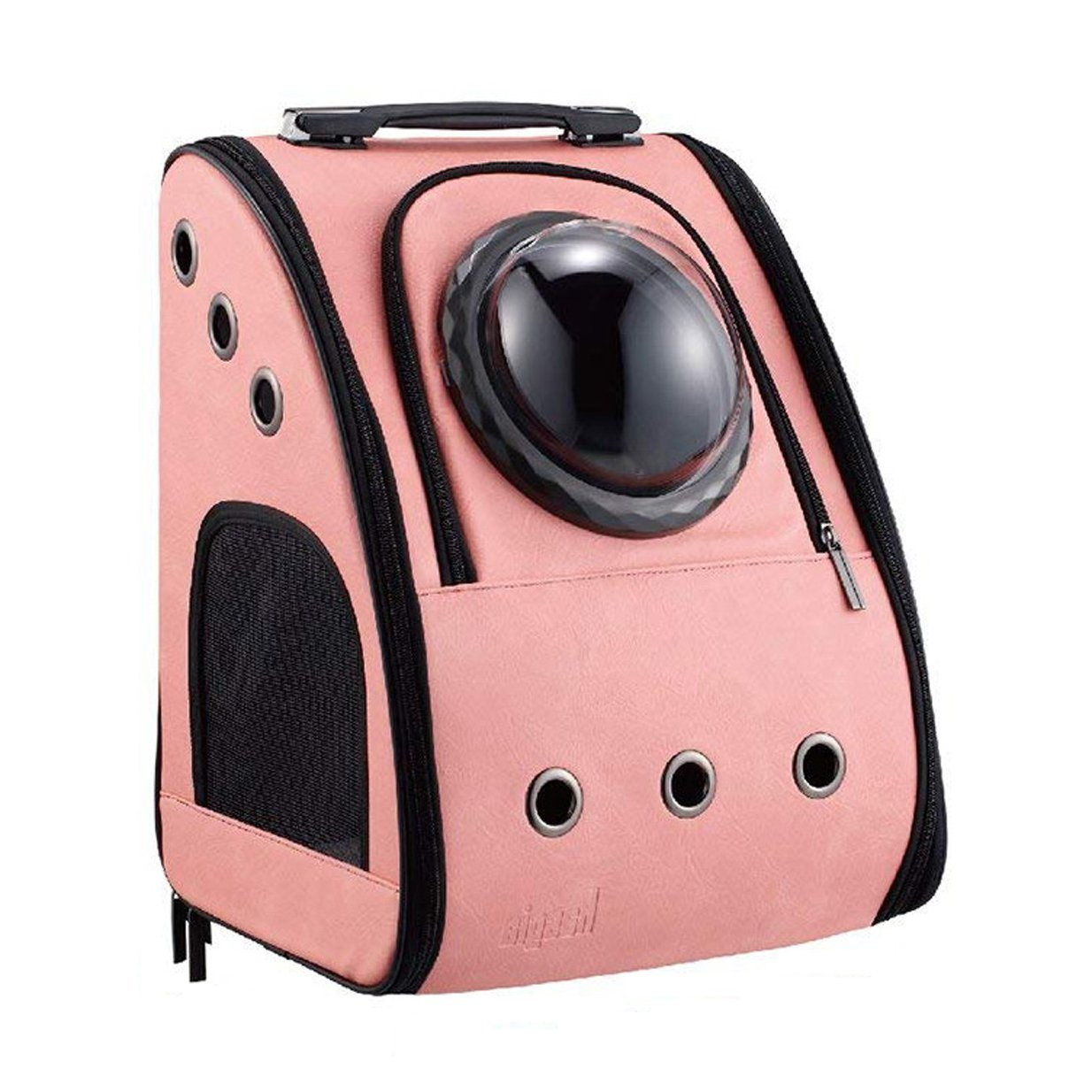 Hasgia Cat Dog Carriers Backpack Portable Traveler Handbag for Cats and Small Dogs with Space Transparent Vision Cushion-Mat Cingulate for Fit Pets up to 15Pounds Large Breathable Comfortable (Pink)