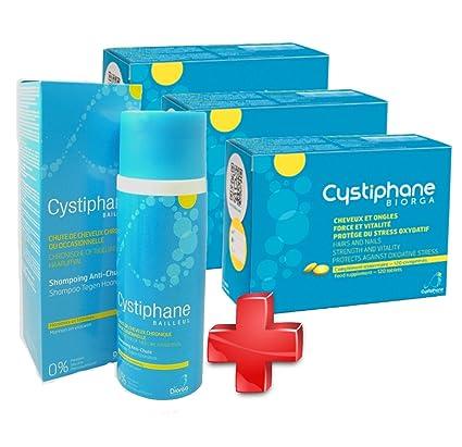 cystiphane bailleul- Cistina B6 – Zinc – Arginine – Cabello y Uñas – Salud – fuerza y Vitalité protege del stress oxydatif – Complemento alimenticio ...