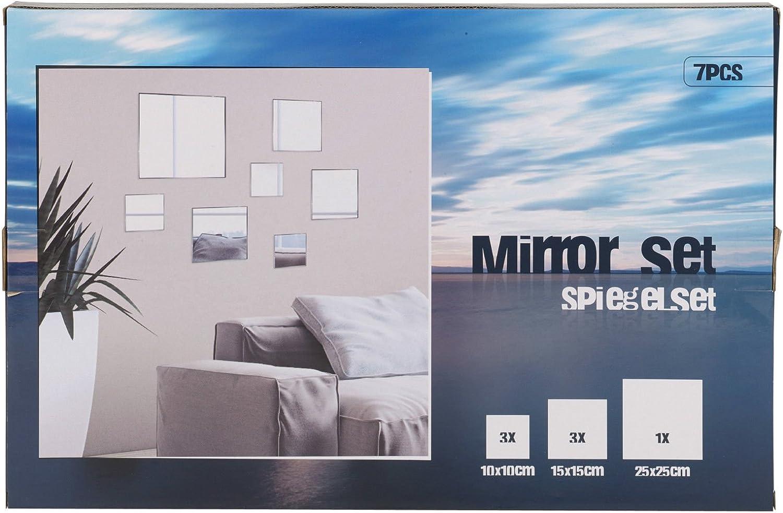 Set de 7 espejos decorativos para la pared del baño o la ...