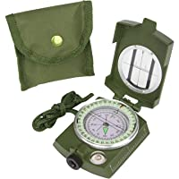 CASON (DEVICE OF C) High Accuracy Metal Waterproof Military Compass for Directions , 8 X 6.5 x 3 cm (Green)