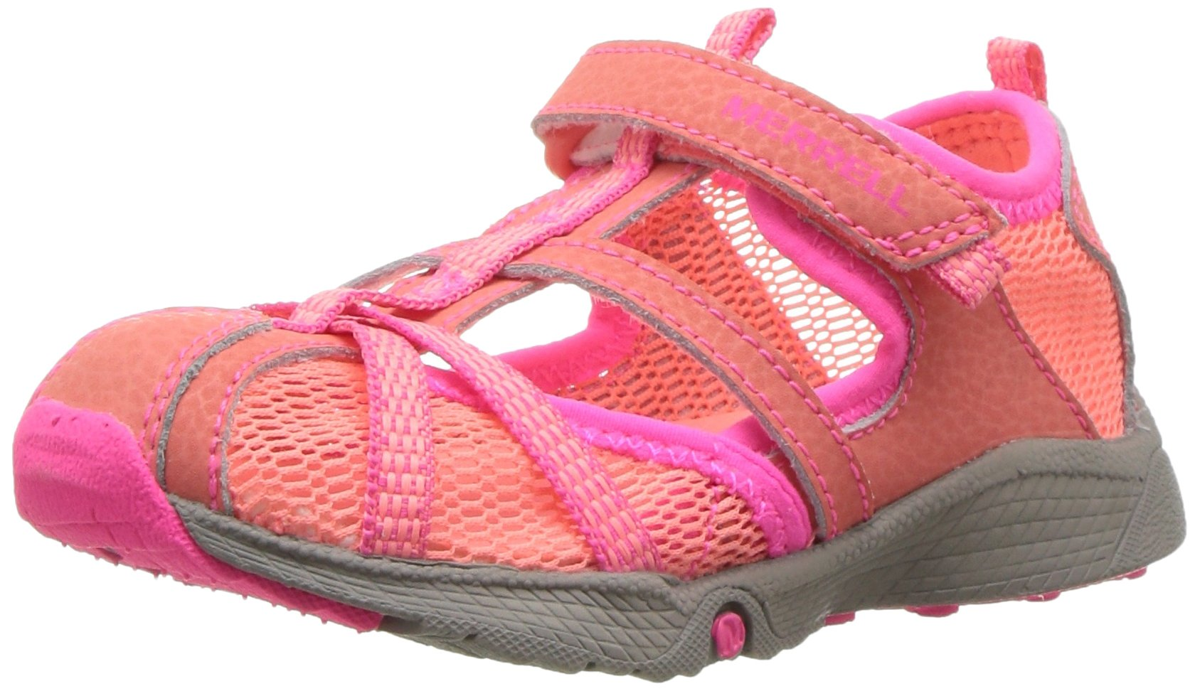 Merrell Hydro Monarch Water Sandal (Toddler/Little Kid/Big Kid), Coral, 5 M US Toddler