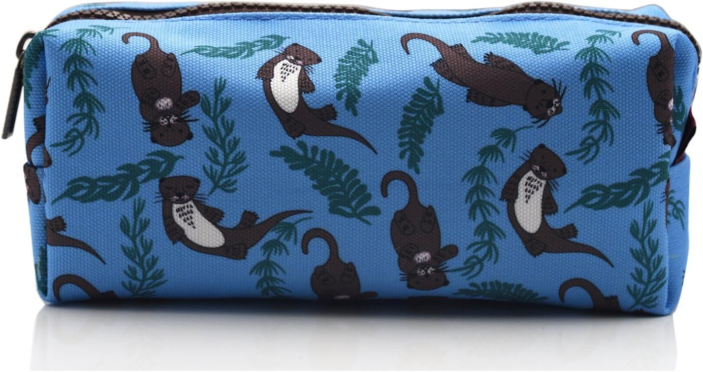 Otter Pencil Case Students Canvas Pen Bag Pouch Stationary Case Makeup Cosmetic Bag