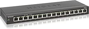 NETGEAR GS316 SOHO 16-Port Gigabit Ethernet Unmanaged Network Switch Business Use (GS316-100AUS), Grey, GS316-100AUS