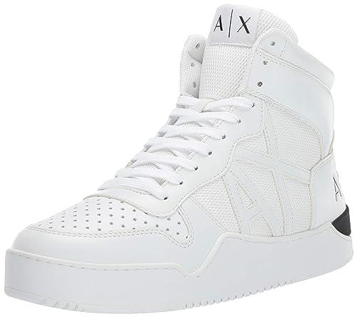 Amazon.com  A X Armani Exchange Men s High Top Lace Up Sneaker  Shoes 4571bc51bd3