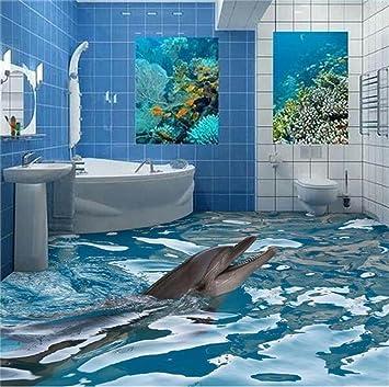 ZLJTYN 320cmx210cm Custom 3d-PVC-Tapeten Fototapete Shark Badezimmer ...