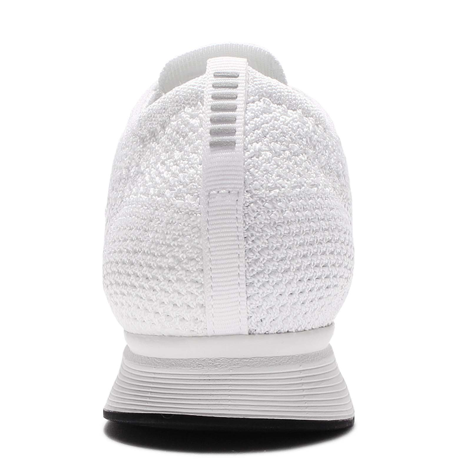 NIKE Men Flyknit Racer Running (White/White-Sail-Pure Platinum) Size 11.0 US