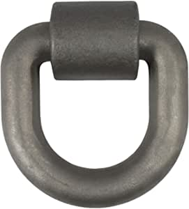 CURT 83770 5 x 5-Inch Weld-On Trailer D-Ring Tie Down Anchor, 46,760 lbs Break Strength