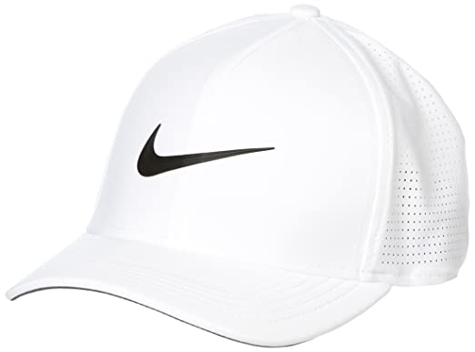 37a3818dcfc7a3 ... discount code for nike 2018 aerobill classic 99 tour perforated fitted  mens cap hat white black