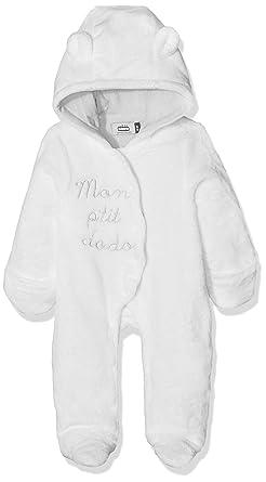 COM, Pelele para Bebés, Blanc Casse/Gris