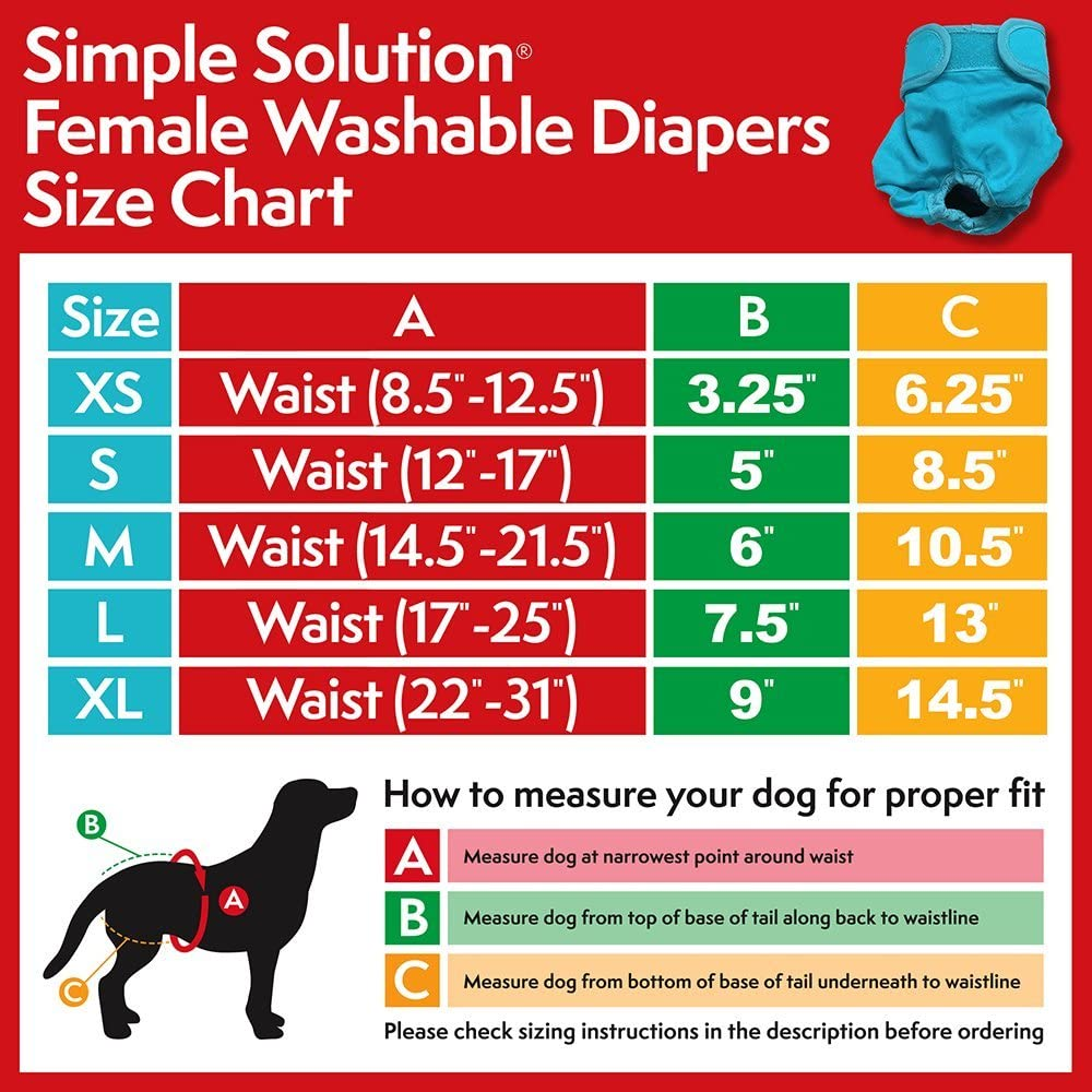 Simple Solution Washable Diaper, Extra Large: Amazon.ca: Pet Supplies