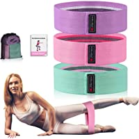 Strength Booty Fabric Bands, Xcellent Global 3 Pcs Non-Slip Fabric Resistance Bands for Butt, Leg & Arm, Circle Workout…