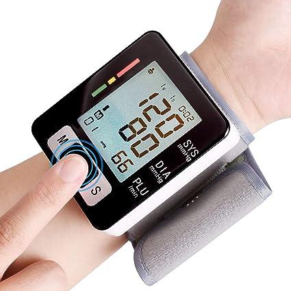 DYHT Tensiómetros Muñeca Digital Eléctrico Monitor Automatico Tensiómetros Medición Automática de la Presión Arterial y Pulso