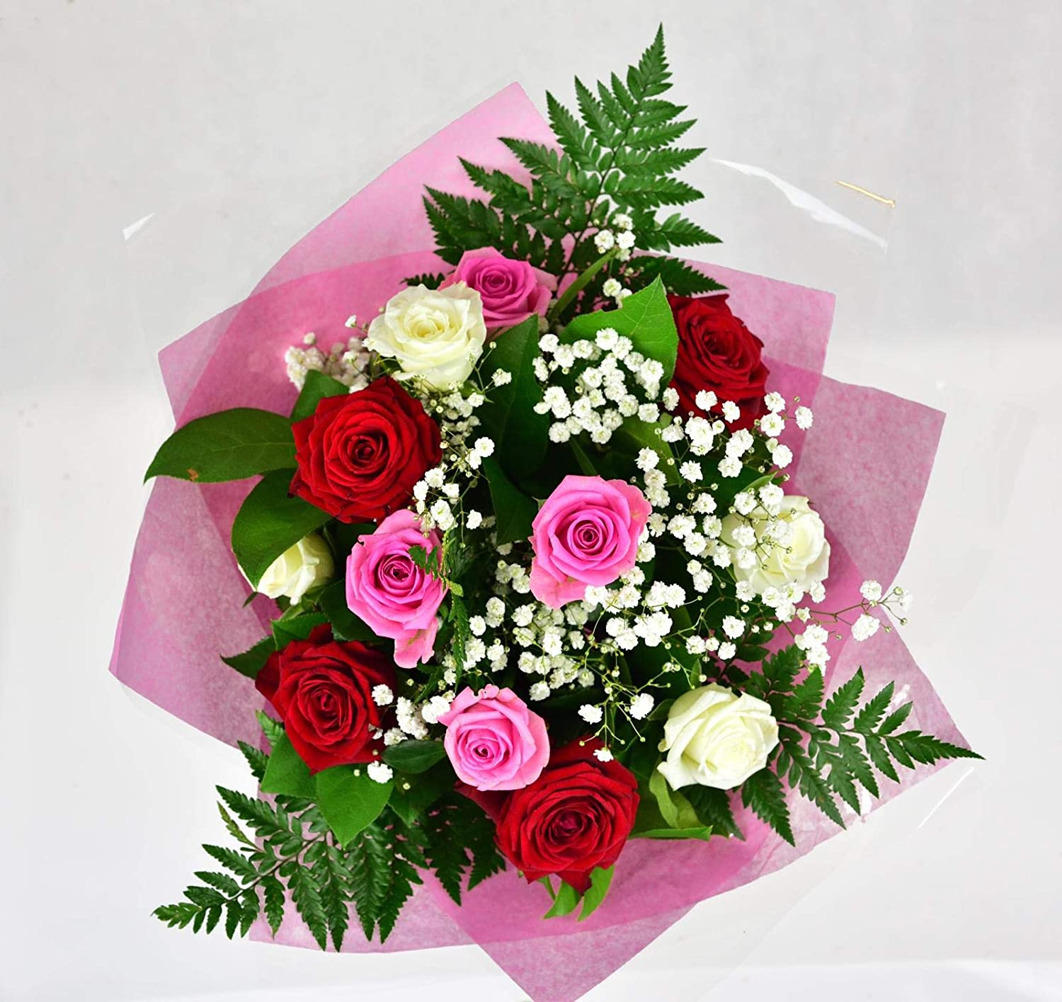 Heaven Bouquet Fresh Flowers Free Uk Delivery Heaven Bouquet Is A Beautiful Bouquet For Any Occasion Birthday Thank You Congratulation Amazon Co Uk Garden Outdoors