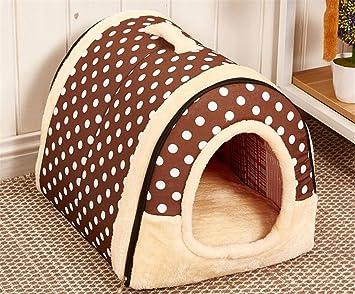 Tablar Dog House Kennel Nest con colchoneta Plegable para Mascotas Cama para Perros Cama para Gatos Casa para Perros medianos pequeños Bolsa de Viaje para ...