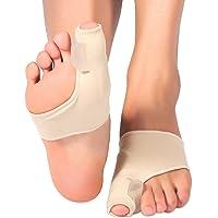 Zetiling Corrector de juanetes, 1 par de férulas Protectores ortopédicos para pies Almohadillas Toe Bunion Corrector Protector Gel Spandex Spreader, para Hallux Valgus