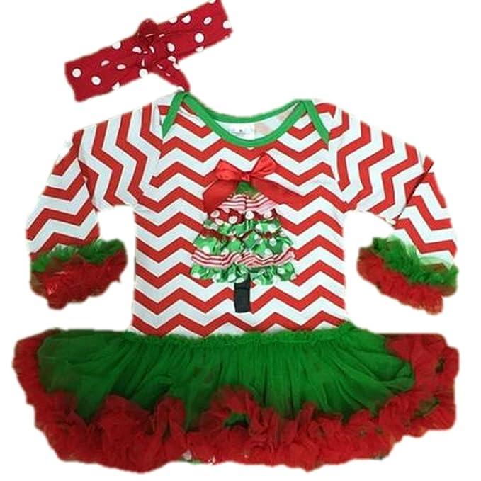 Amazon.com: Cute Kids ropa bebé árbol de Navidad Tutu ...