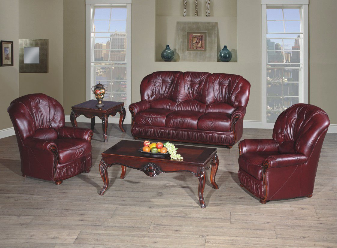 100% Bonded Italian Leather Three Piece Suite 3 1 1 Full Suite Available In  Brown / Beige Or Burgundy: Amazon.co.uk: Kitchen U0026 Home