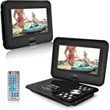 """9.5"""" Portable DVD Player, LDesign Car DVD Player with 1024x600 TFT, Swivel Screen, 5-Hour Battery, Remote Control, Support SD Card & USB, Multi Media Play, Sync Screen, 3 Charge Mode, Last Memory"""