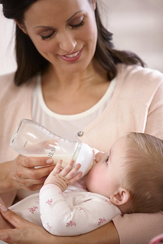 Philips Avent SCD291//02 Naturnah Neugeborenen-Glasflaschen-Set transparent