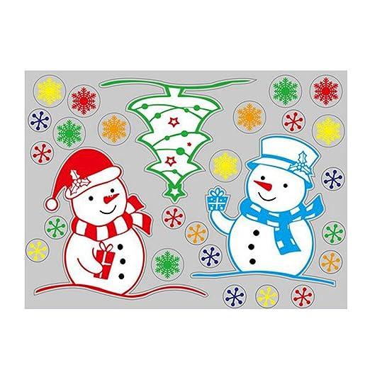 Eizur Abnehmbar Weihnachtssticker Schneemann Fensterbilder