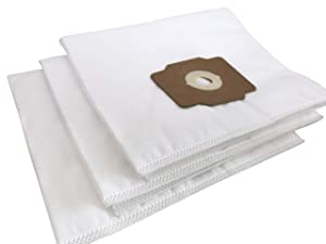 Central Vacuum Bags - Premium HEPA Non-Woven Cloth Bags Compatible Replacement for Beam, Electrolux, Eureka, Kenmore, Husky, Mastercraft, White Westinghouse, Nutone, Broan Central Vacs (Pack of 3)