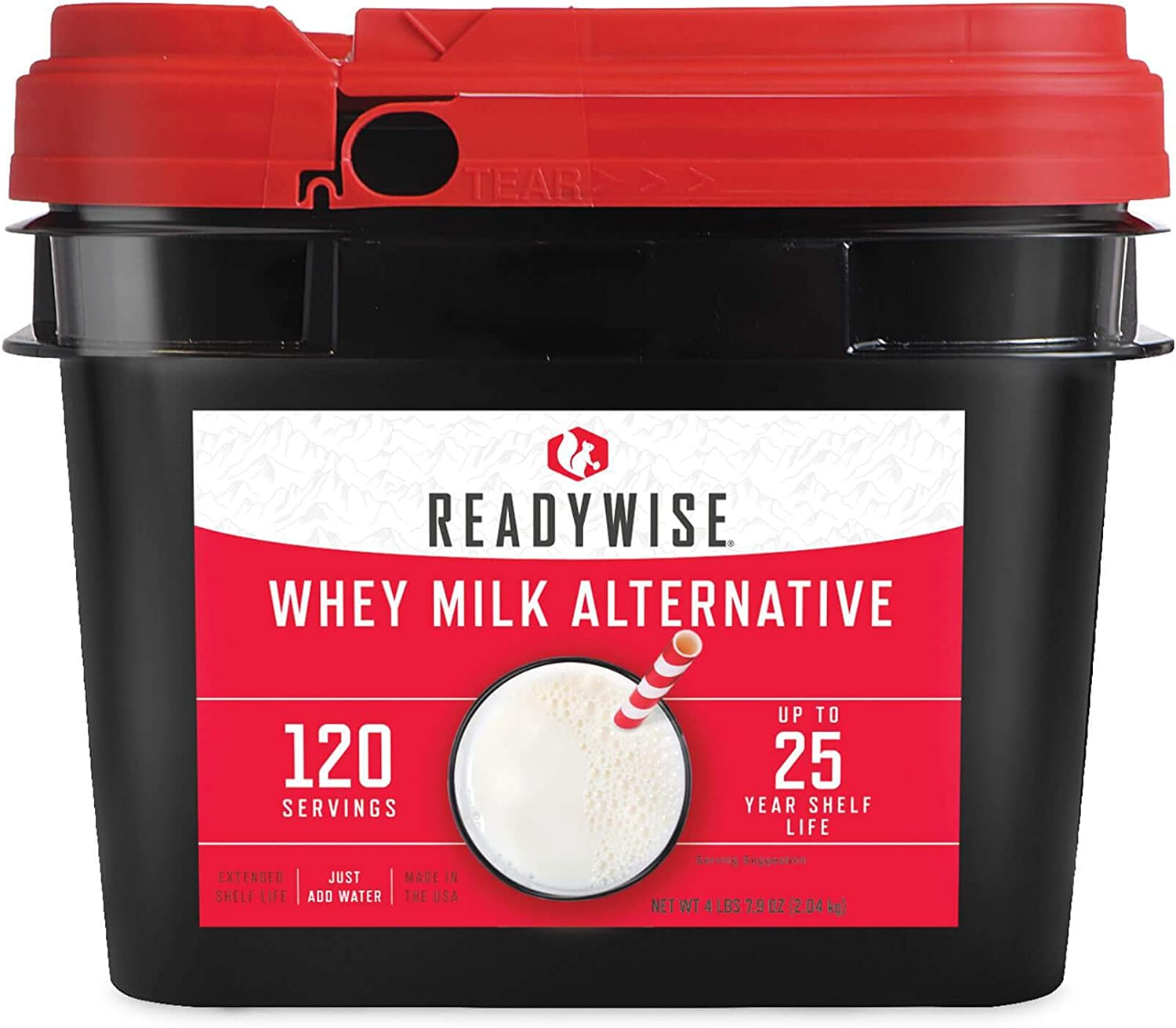 Ready Wise 120 Servings of Emergency Whey Milk Alternative | 20 Year Shelf-Life | Made in The USA