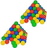 Knorrtoys 56781 - Bälleset - 200 bunte Plastikbälle/ Bälle für Bällebad, 6 cm Durchmesser, in Farbmischung blau / rot / gelb / grün, ohne gefährliche Weichmacher