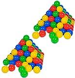 Knorrtoys 56781 - Bälleset - 200 bunte Plastikbälle/ Bälle für Bällebad, 6 cm Durchmesser, in Farbmischung blau / rot / gelb / grün, ohne gefährliche Weichmacher, TÜV-Rheinland Testbericht v. April 2016